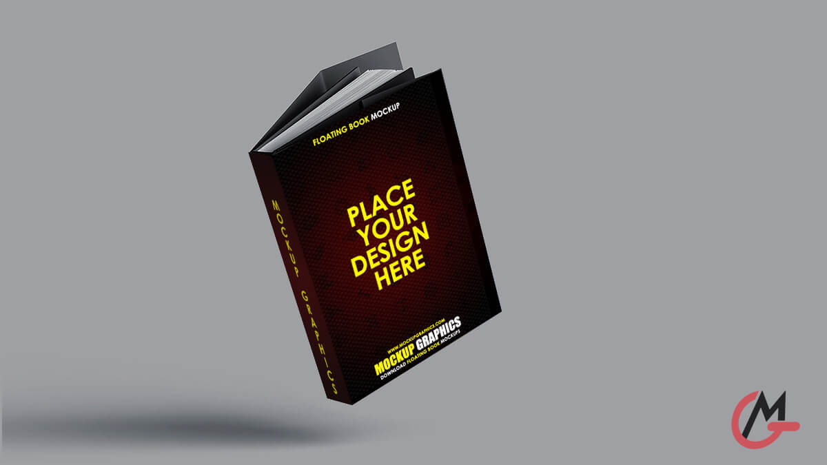 floating book mockup - www.mockupgraphics.com