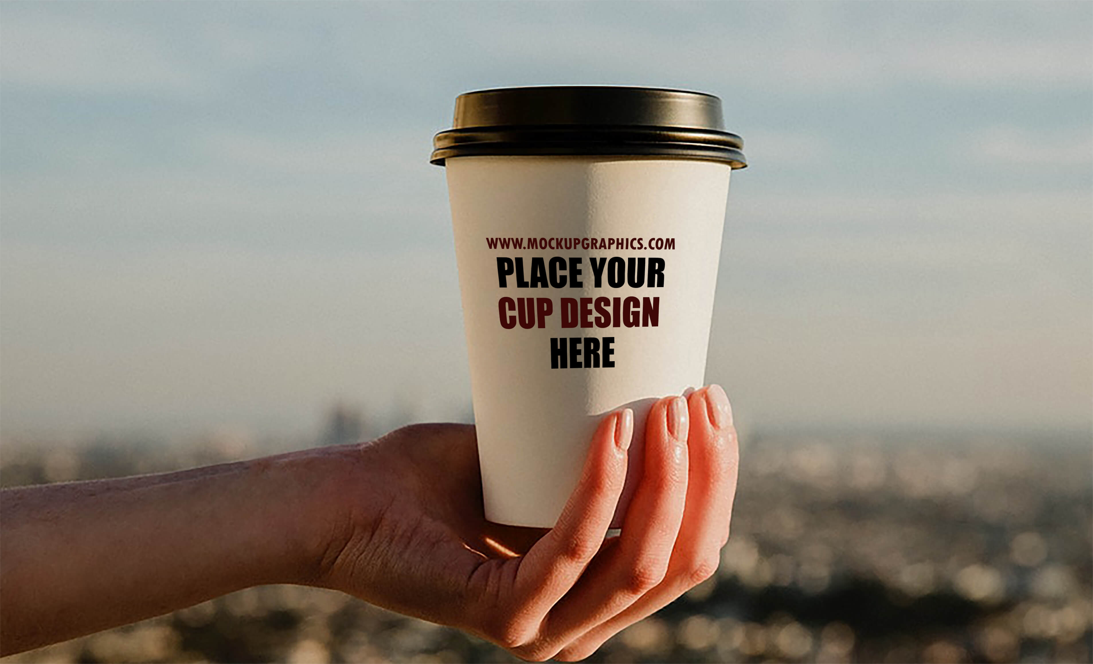 coffee in hand cup mockup - www.mockupgraphics.com