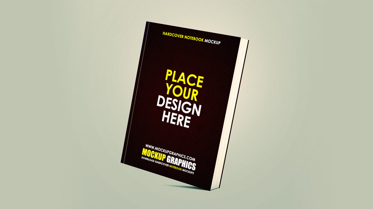 hardcover notebook mockup - www.mockupgraphics.com