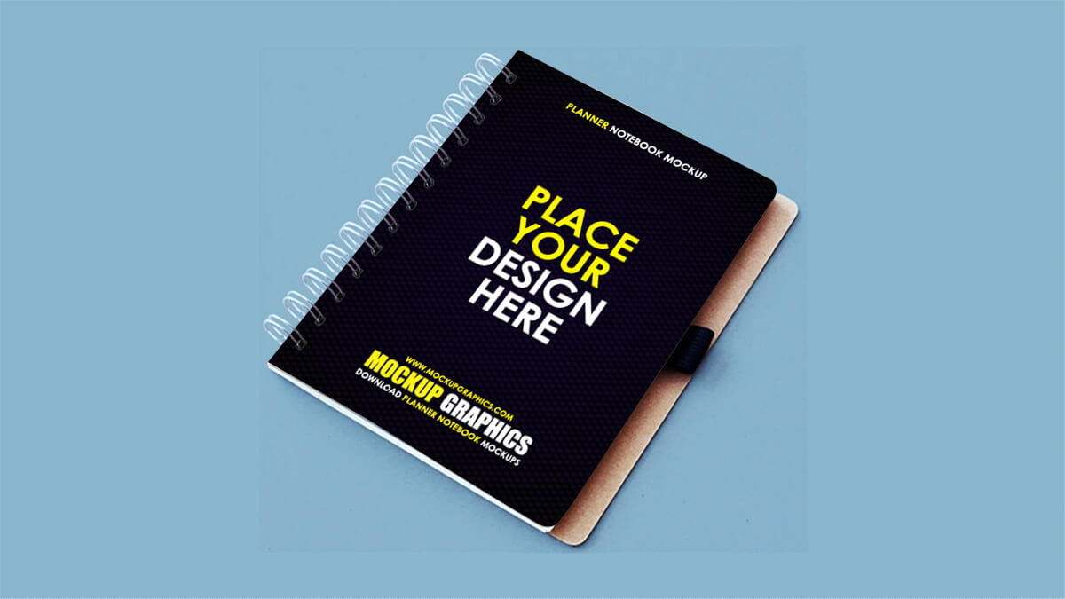 planner notebook mockup - www.mockupgraphis.com