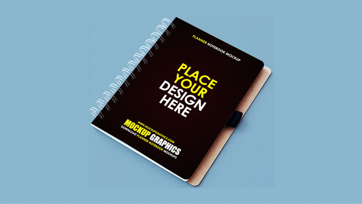 planner notebook mockup - www.mockupgraphics.com