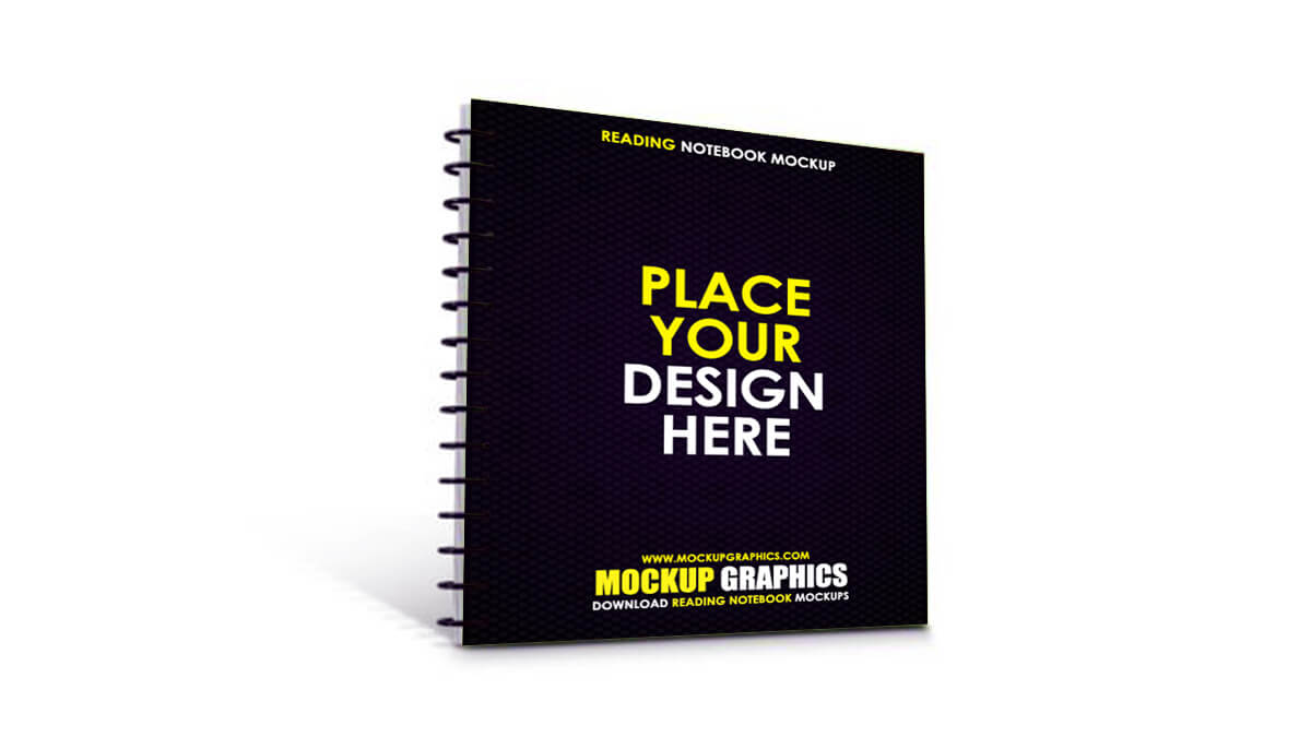 reading notebook mockup - www.mockupgraphics.com