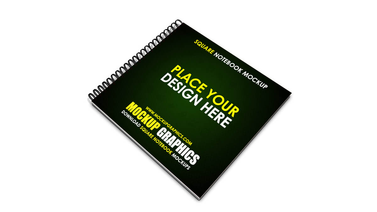 square notebook mockup - www.mockupgraphics.com