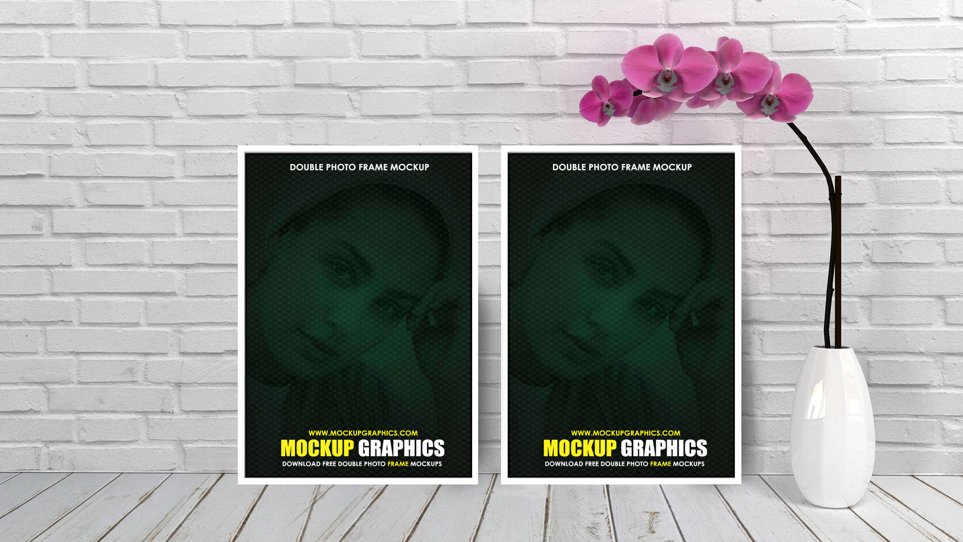 double photo frame mockup - www.mockupgraphics.com