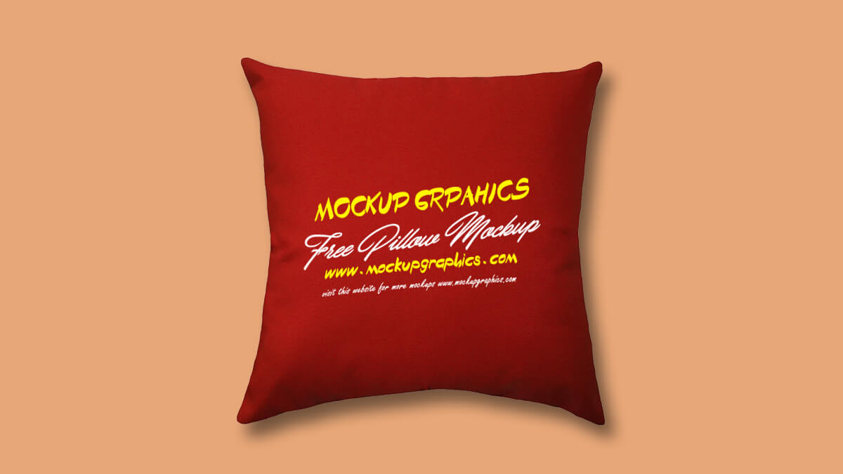 throw pillow mockup free - www.mockupgraphics.com