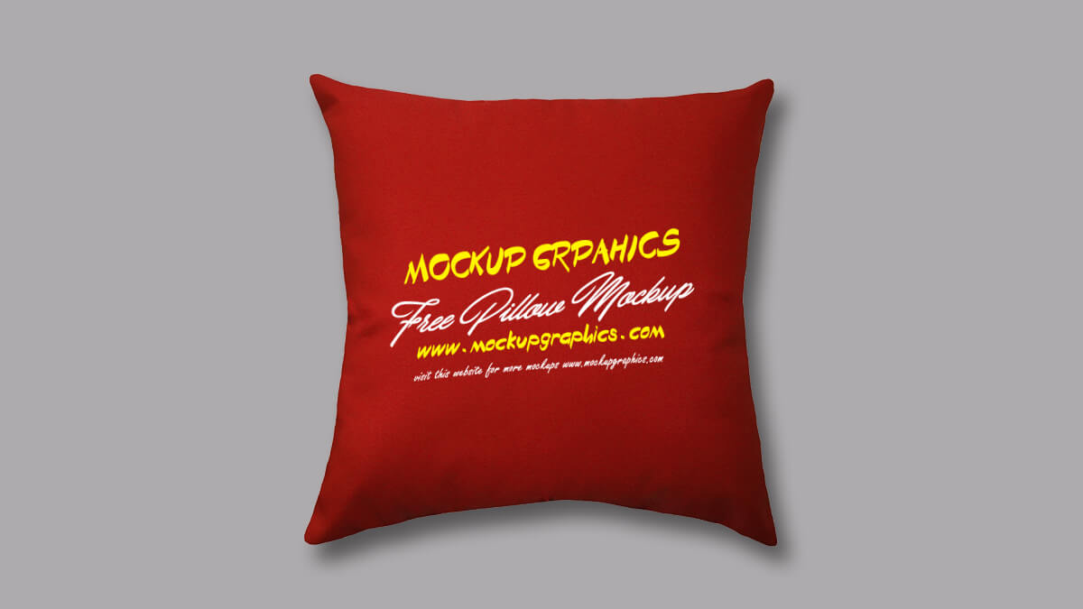 free throw pillow mockup - www.mockupgraphics.com