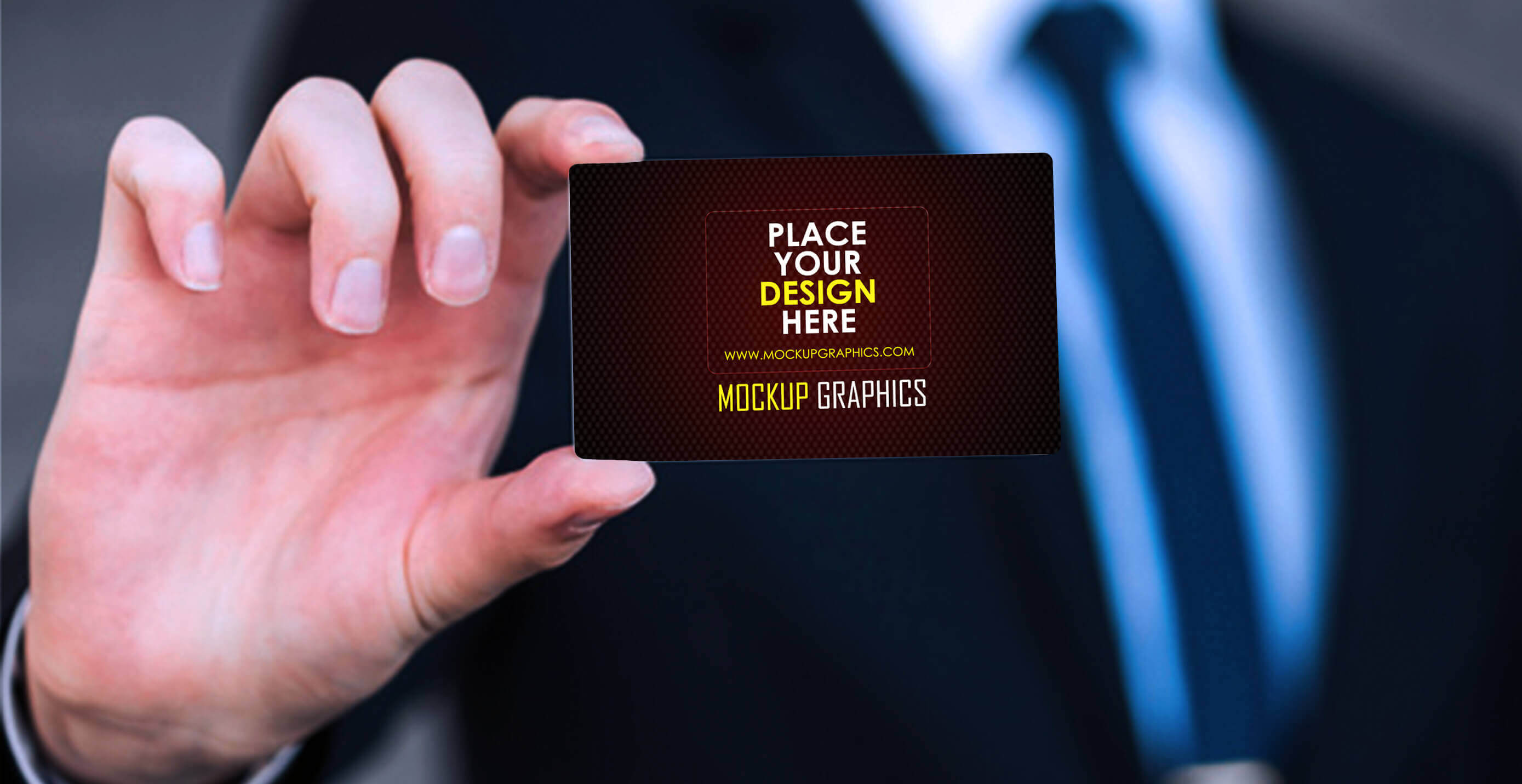 holding business card mockup - www.mockupgraphics.com