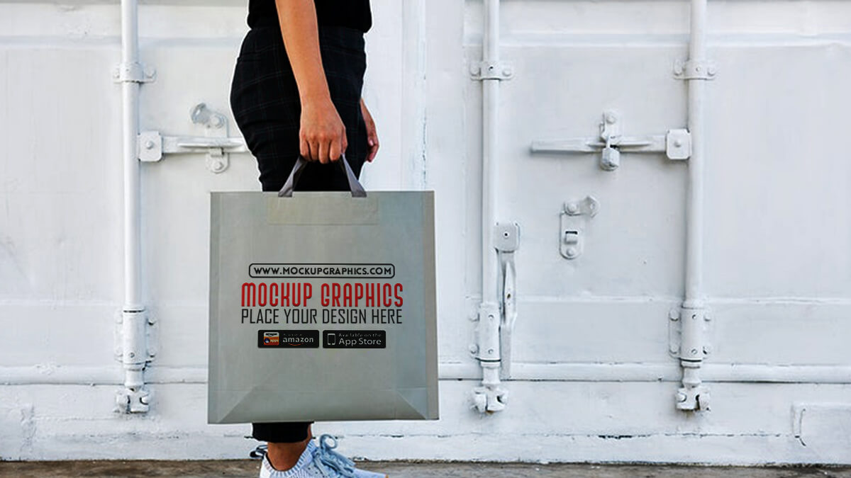 reusable shopping bag mockup - www.mockupgraphics.com