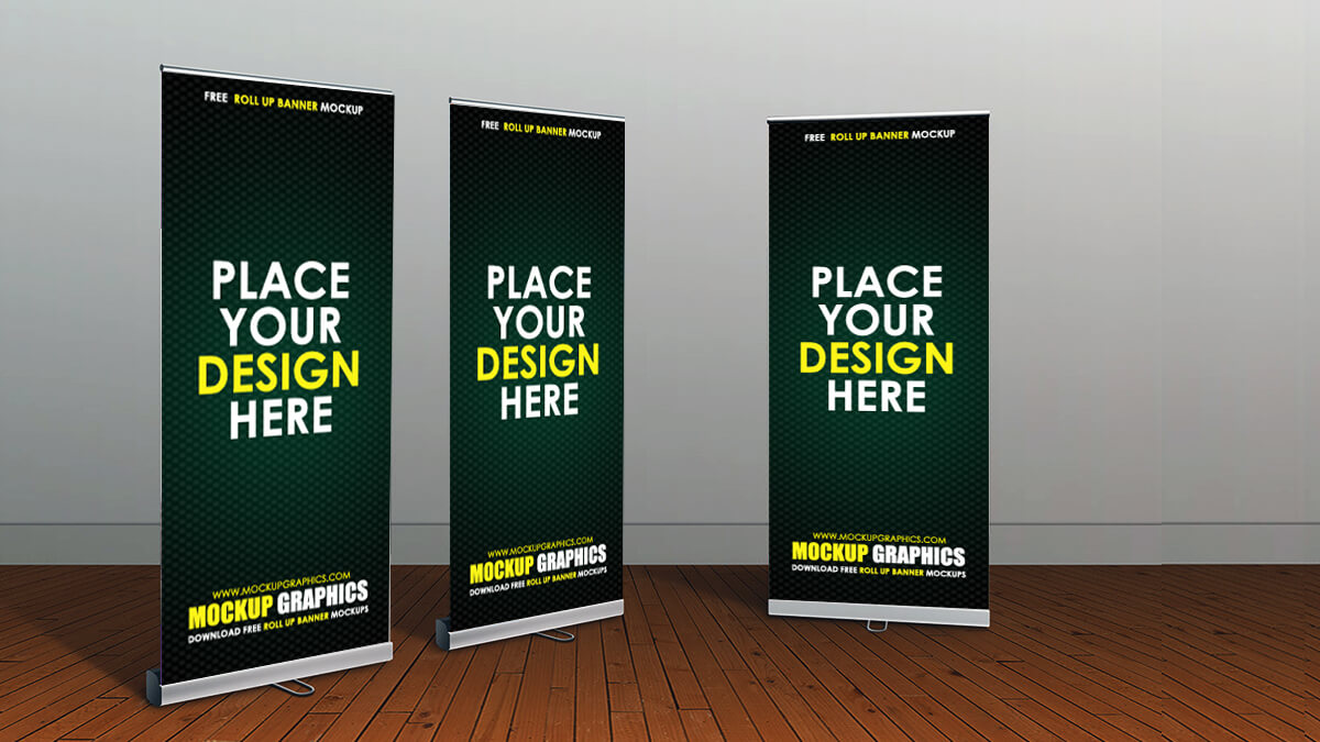 roll up banner mockup - www.mockupgraphics.com