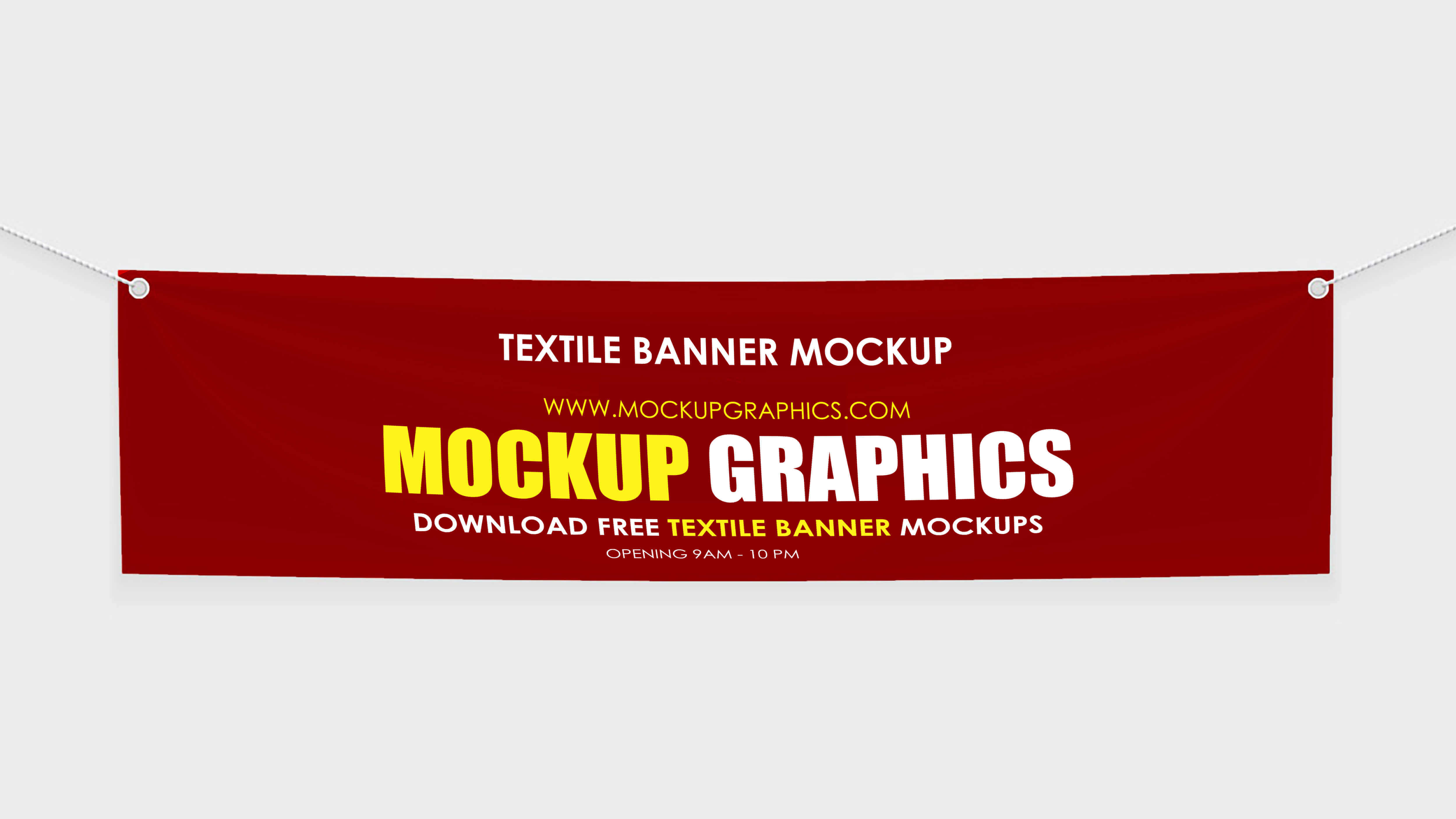 free psd textile banner mockup - www.mockupgraphics.com