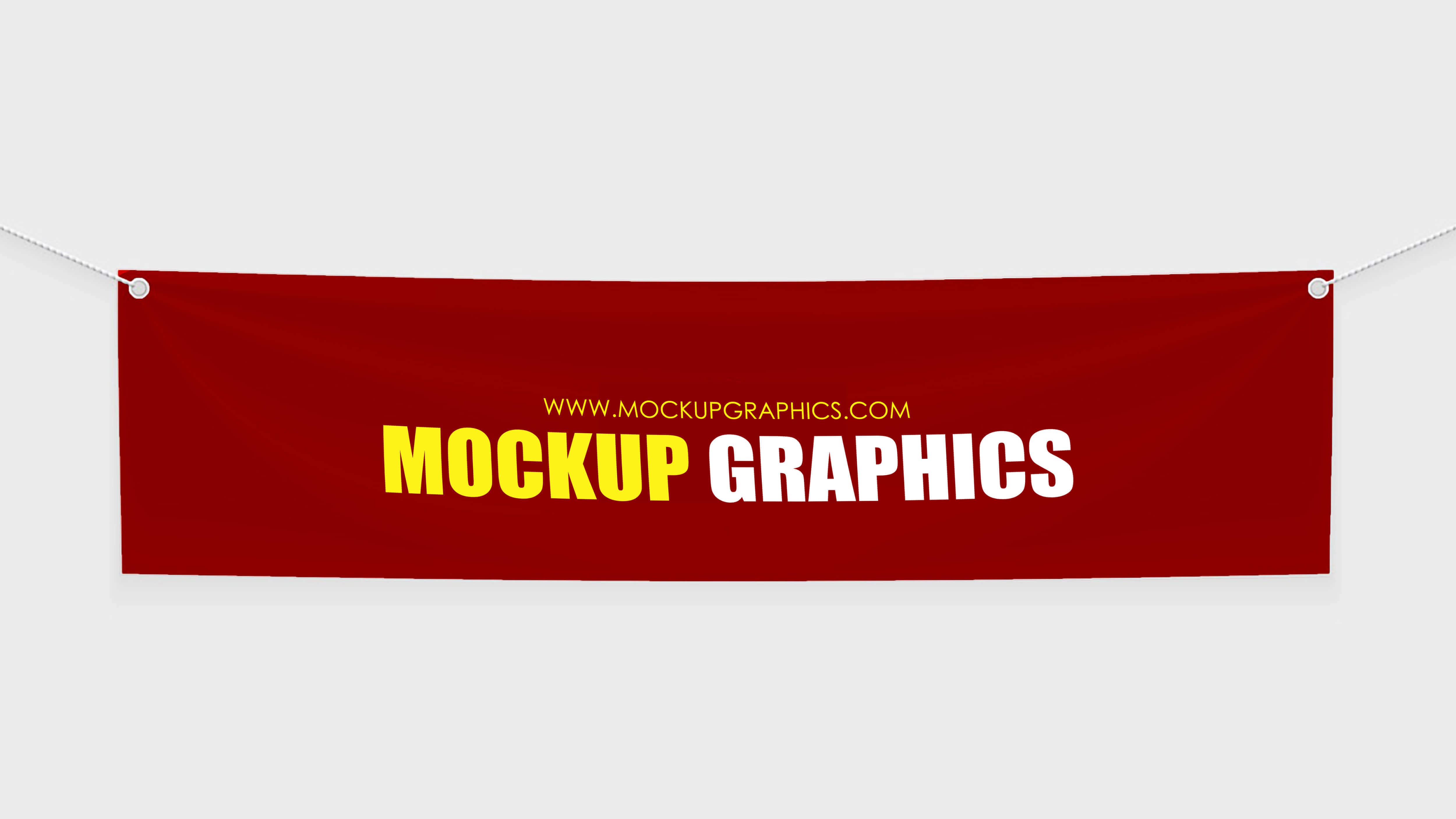 psd textile banner mockup - www.mockupgraphics.com