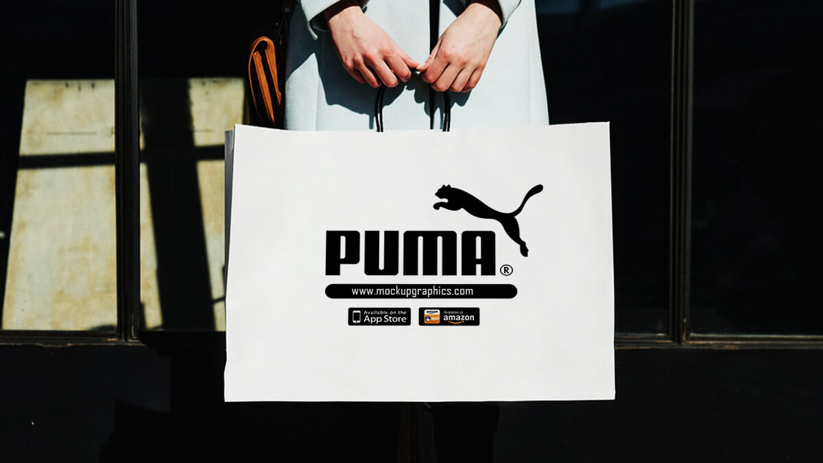 psd white shopping bag mockup - www.mockupgraphics.com