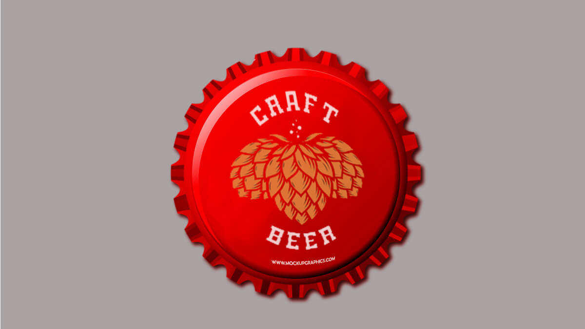 Beer Bottle Cap Mockup