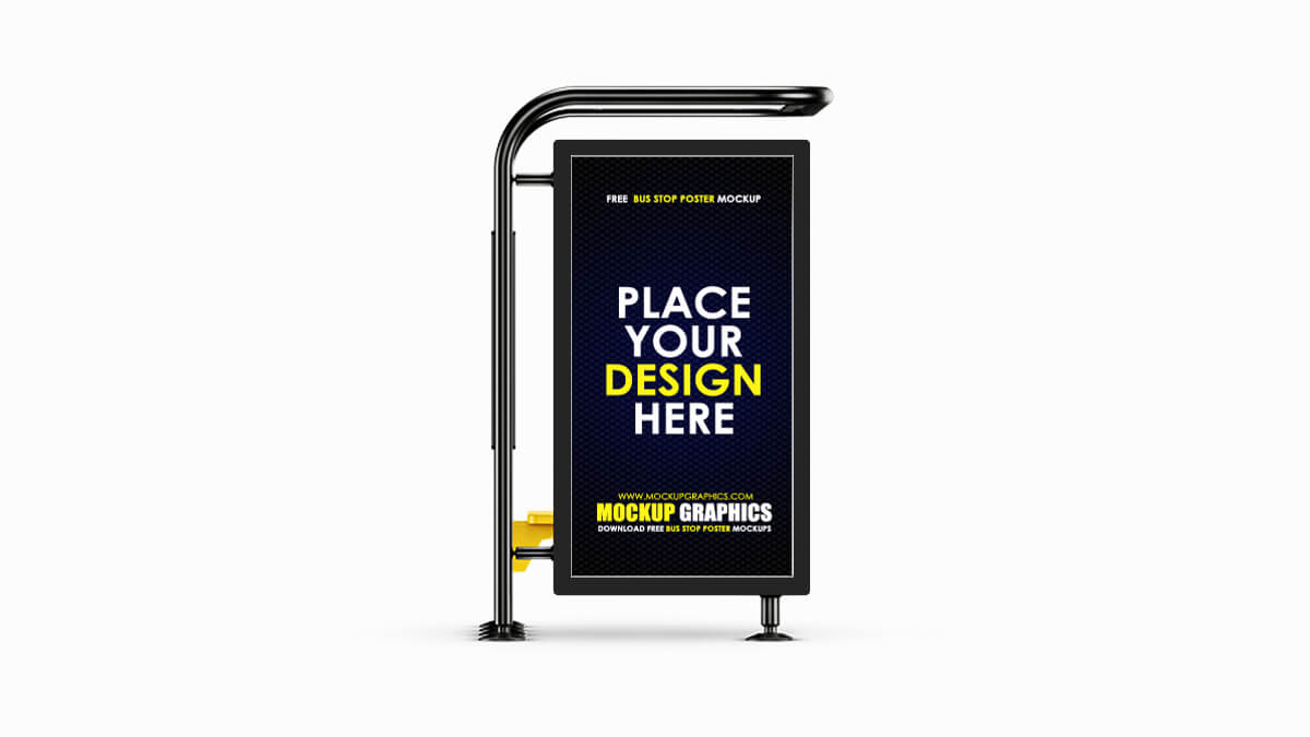 Bus Stop Poster Mockup