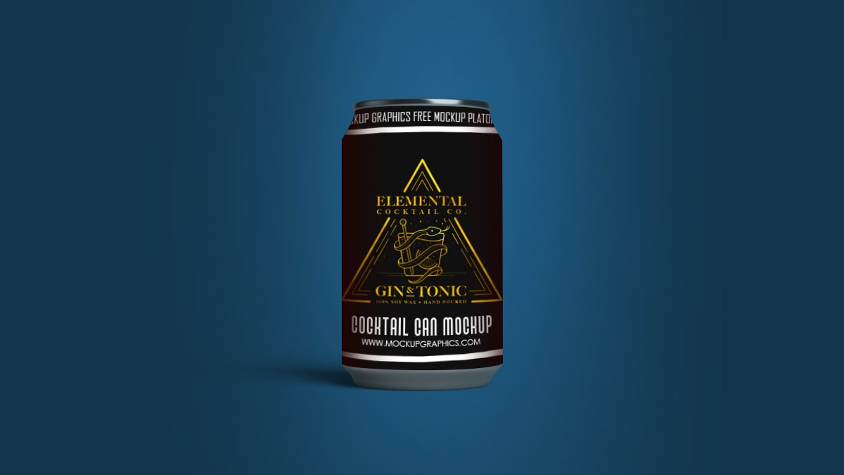 Cocktail Can Mockup