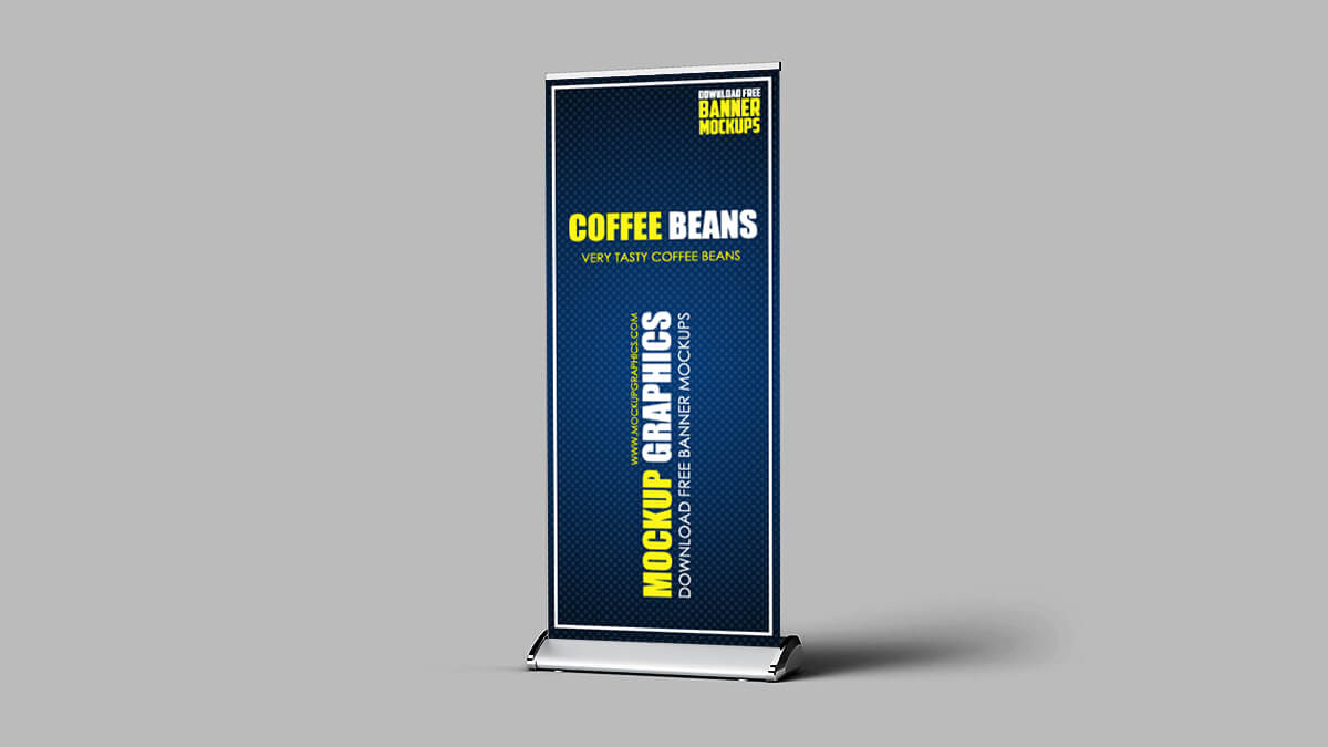 Standing Banner Mockup PSD