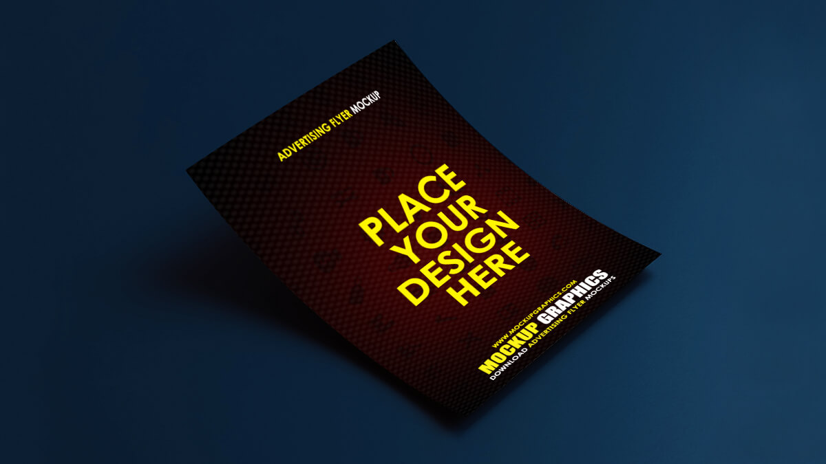 Advertising Flyer Mockup