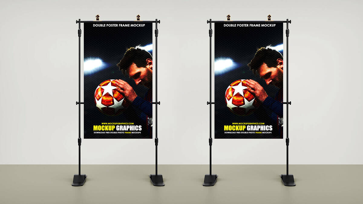 Double Poster Frame Mockup