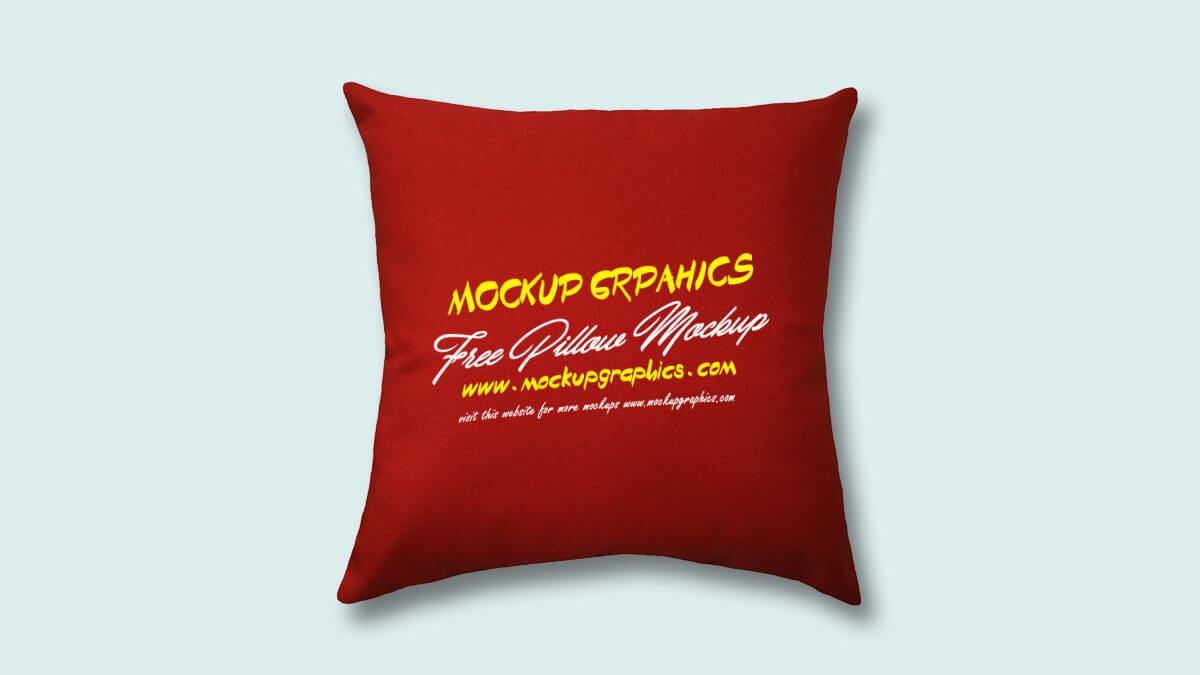 Free Throw Pillow Mockup