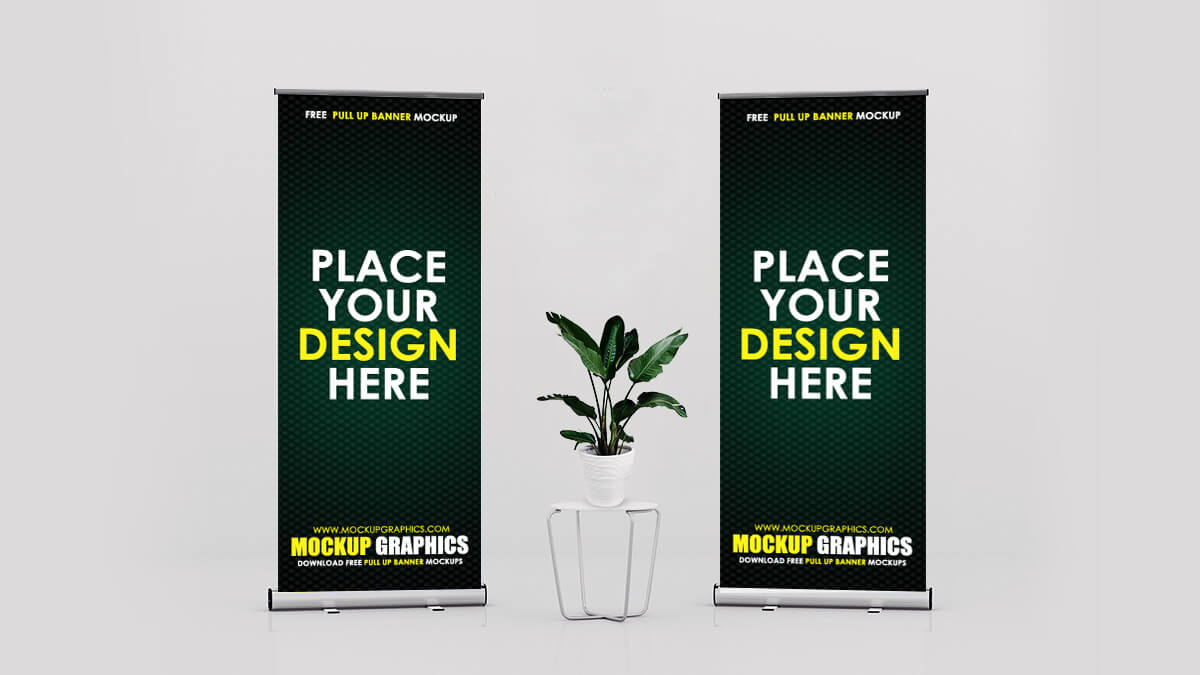 Pull Up Banner Mockup