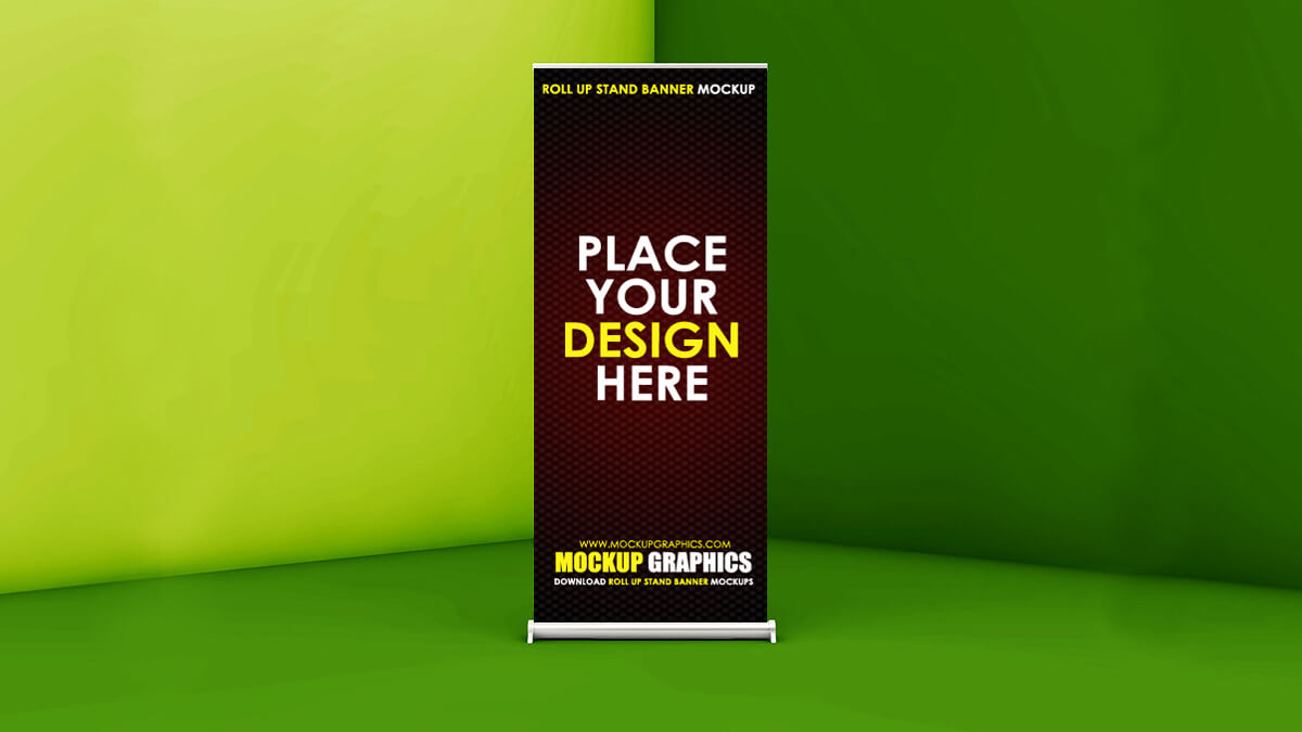 Roll-up Stand Mockup